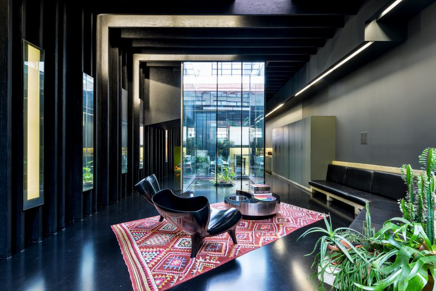 Living room of Lost House by David Adjaye