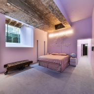 Pink main bedroom of Interiors of Lost House by David Adjaye