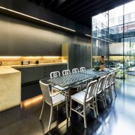 Kitchen and dining area of Lost House by David Adjaye