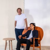 Sean Sutcliffe and Mac Collins with Iklwa collection