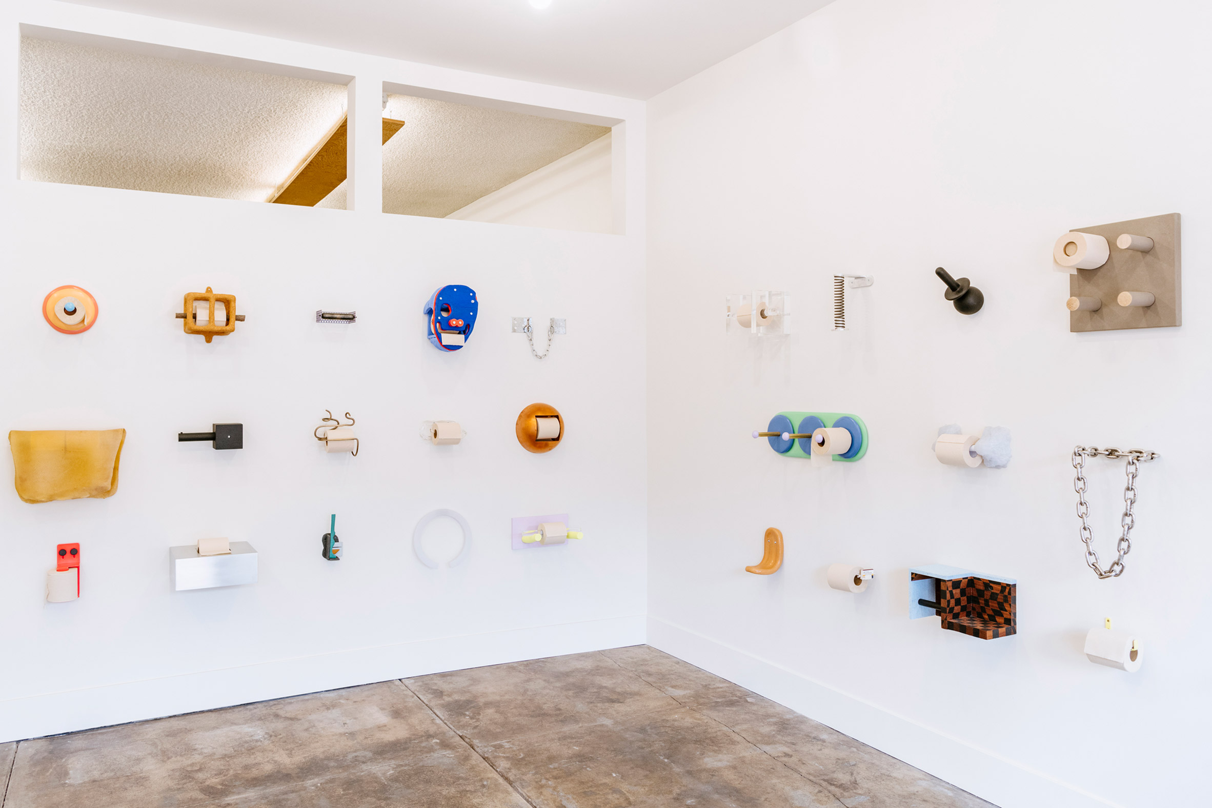 Toilet roll holders at Marta gallery