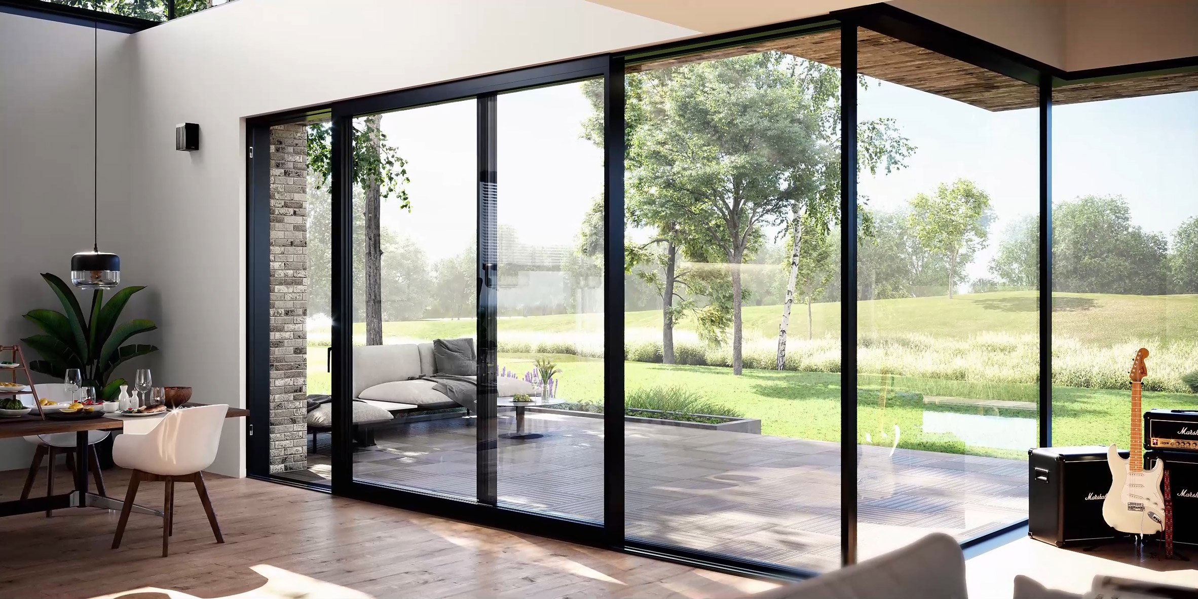 Masterpatio sliding window system by Reynaers