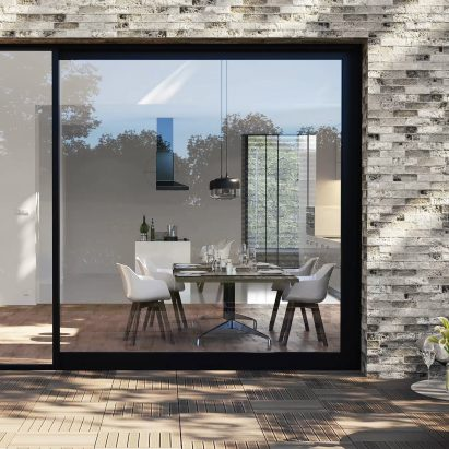 Masterpatio sliding window system by Reynaers
