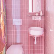 Thirty domestic bathrooms by architects including concrete, travertine and pink-tiled designs