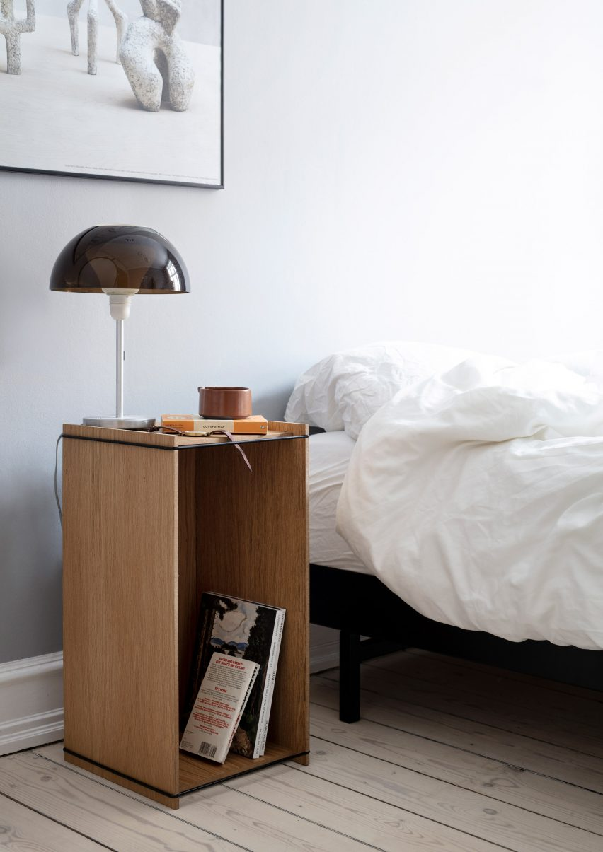 Storage Box by Moebe as a bedside table