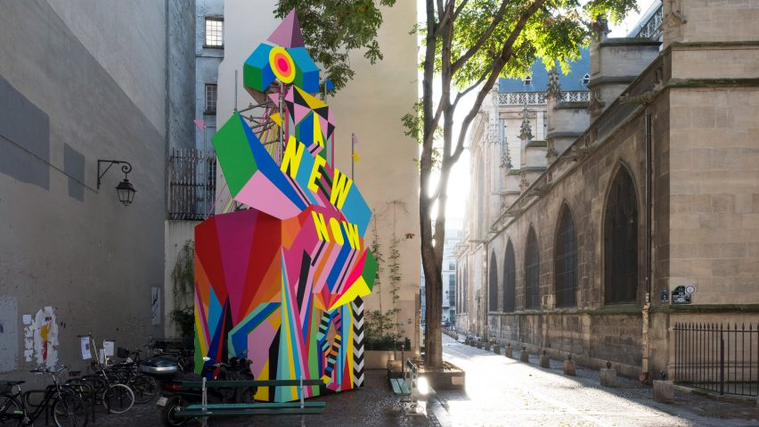 A New Now installation by Morag Myerscough in Paris