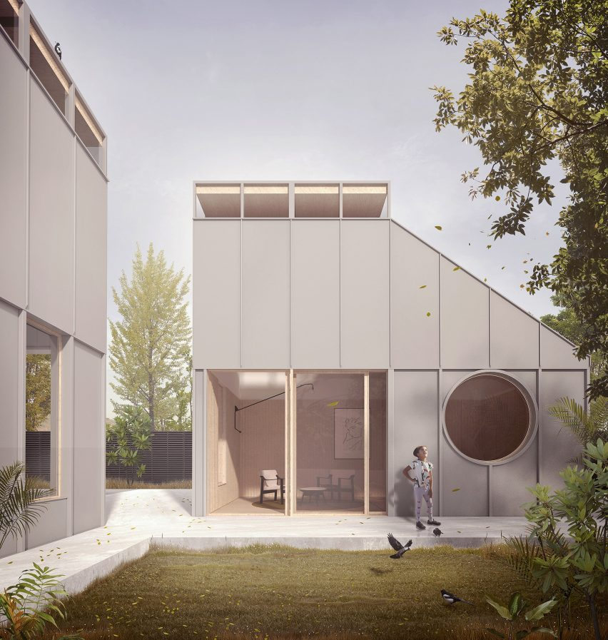 Prefabricated housing system by Morris+Company