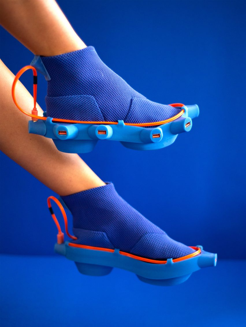 Netha Goldberg's Netina shoes feature electric charging ports