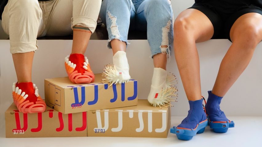 Netha Goldberg's Netina shoes feature attachments for tampons and matches