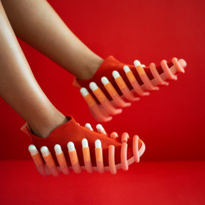 Netha Goldberg's Netina shoes feature attachments to hold tampons