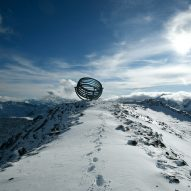 Olafur Eliasson perches giant astronomical instrument on top of glacier