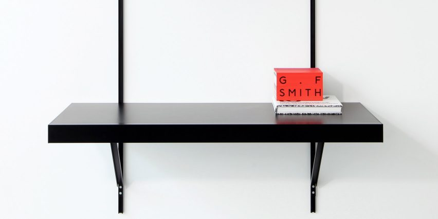 ON&ON's shelving system with a desk unit