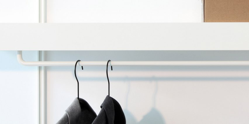 ON&ON's shelving system with a clothes hanger unit