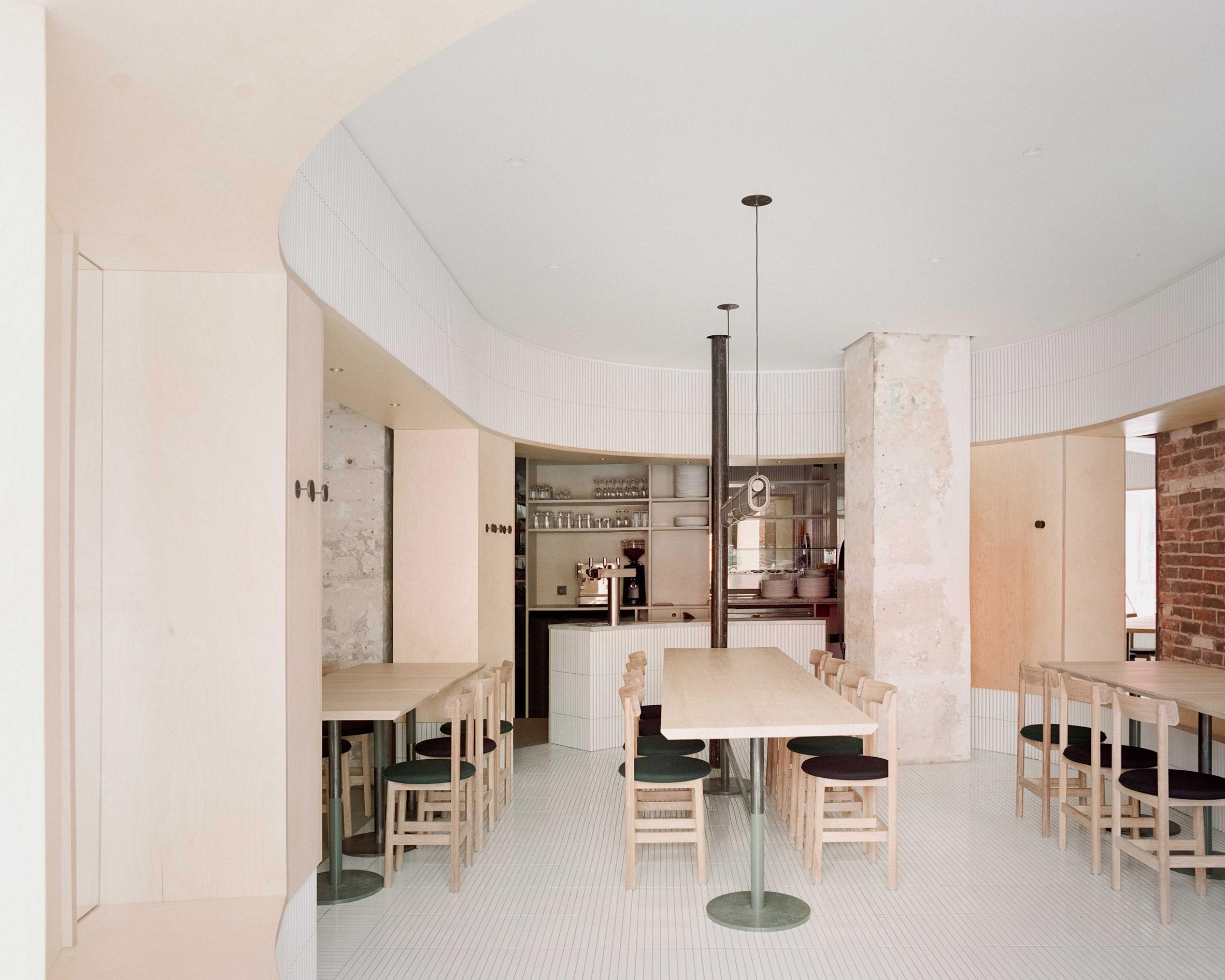 Interiors of Papi restaurant in Paris