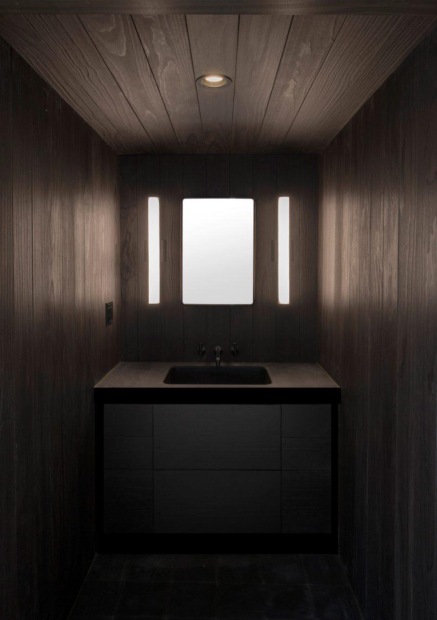 Shou Sugi Ban bathroom