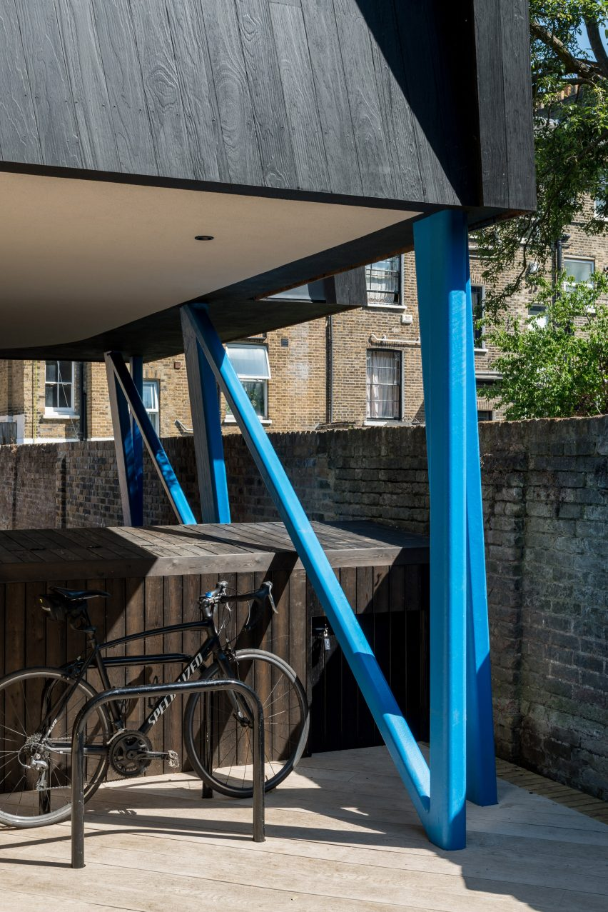 Pitched Black house in South London by Gruff Architects