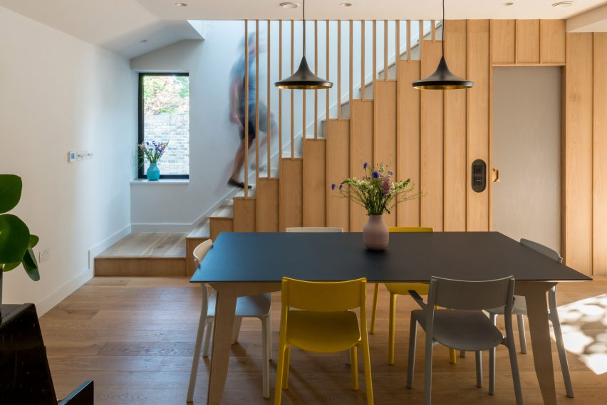 Timber stairs in London house