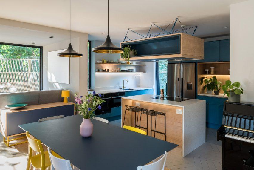 Open plan kitchen in London house