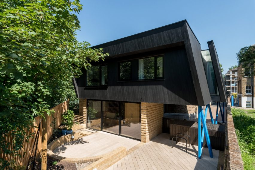Black timber-clad house