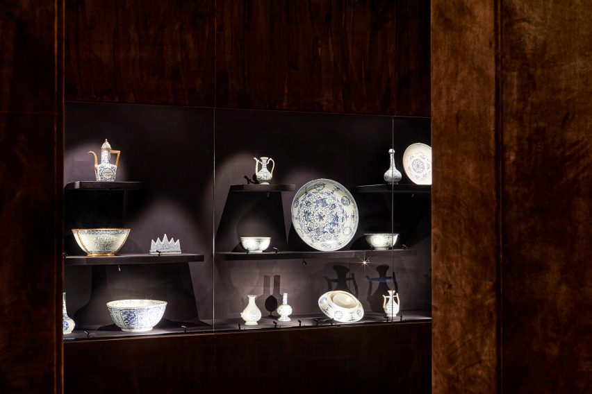 The First Orders room in the Porcelain Room exhibition designed by Tom Postma Design for the Fondazione Prada