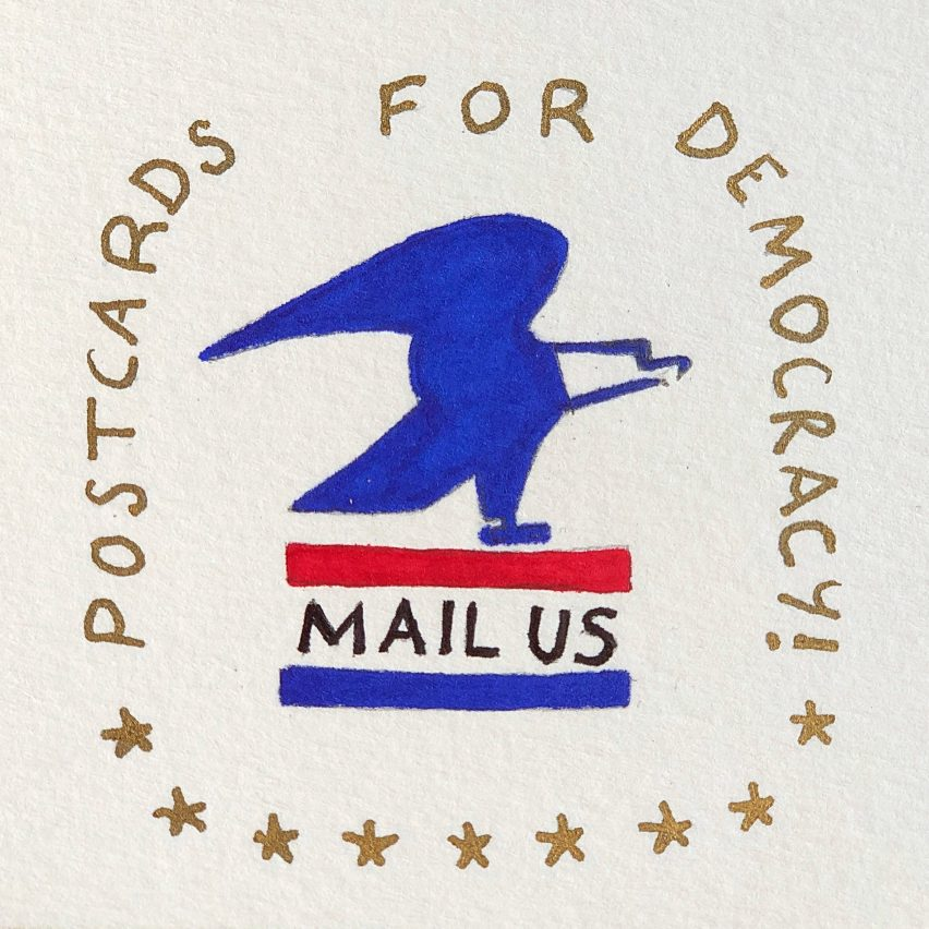 Postcards for Democracy by Beattie Wolfe and Mark Mothersbaugh