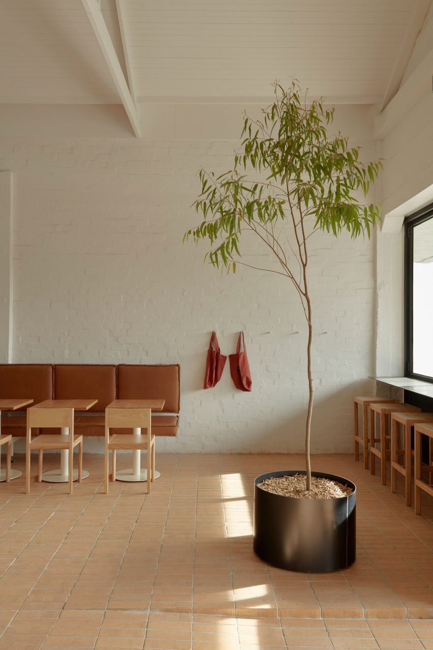 Prior cafe in Melbourne features brick-lined interiors