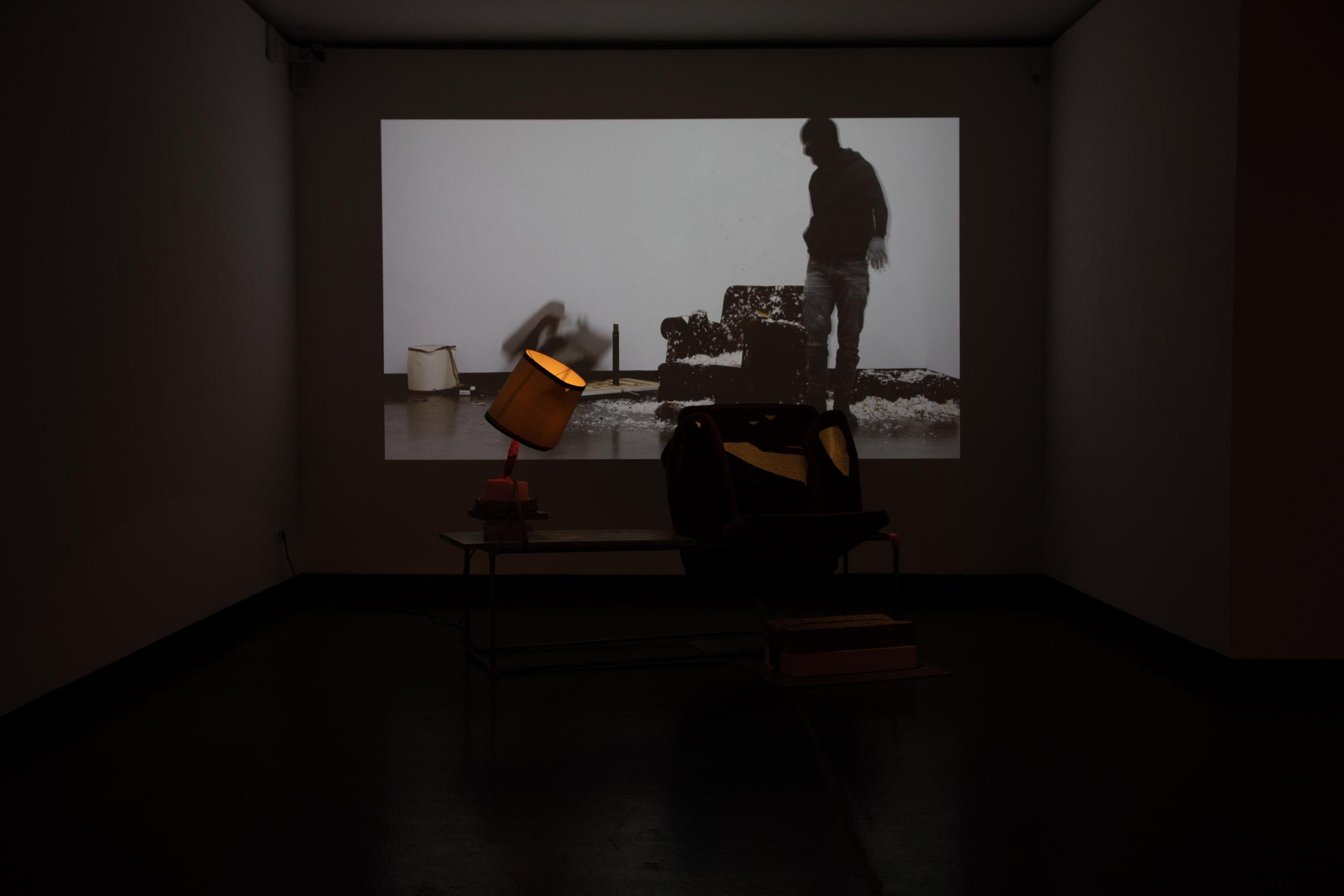 Pablo Chiereghin destroying furniture