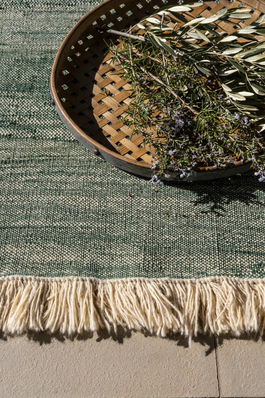 nanimarquina rug in pine