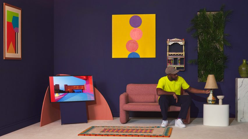 Yinka Ilori styles room using Samsung's LivingColour paints