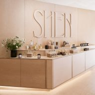 Mythology crafts warm plywood interiors for Shen beauty store in Brooklyn