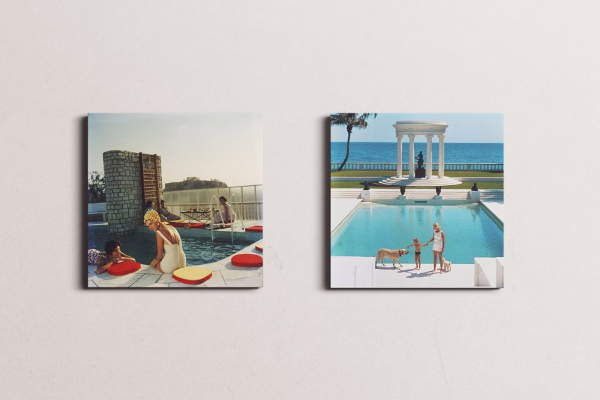 Canvas prints of Penthouse Pool and Nice Pool by Slim Aarons