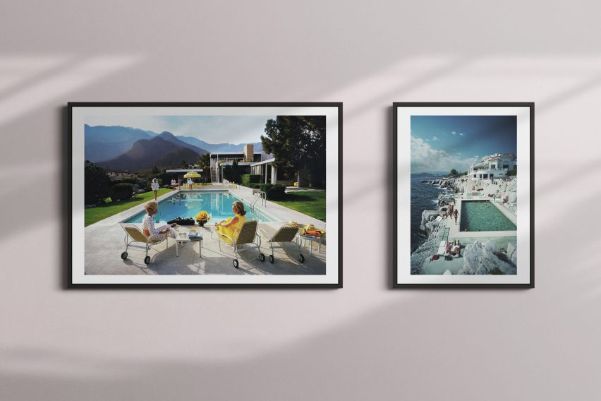 Framed prints of Poolside Glamour and Eden-Roc Pool by Slim Aarons