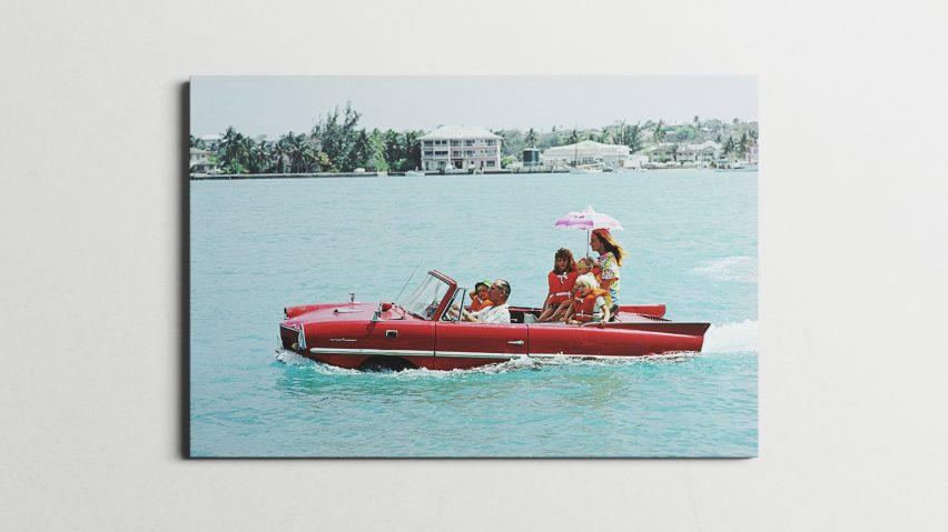 Canvas print of Sea Drive by Slim Aarons