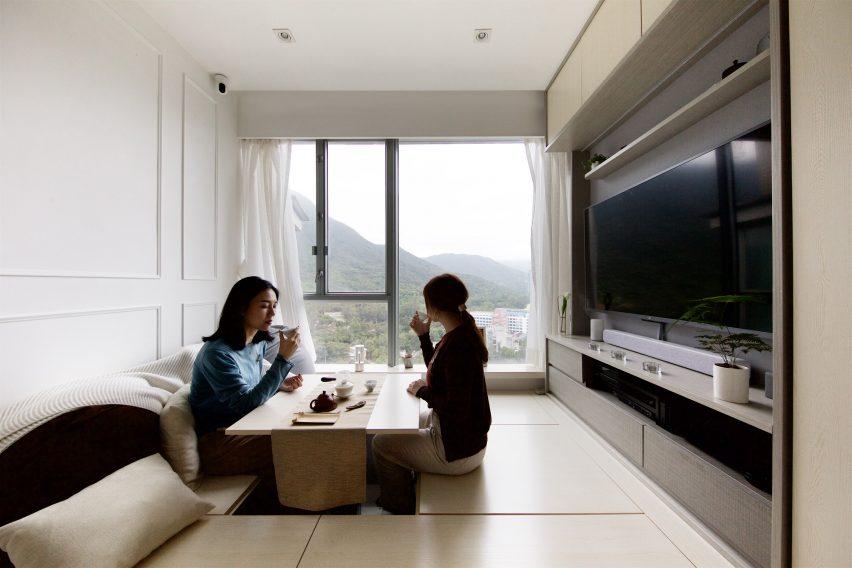 Tea ceremony in Smart Zendo by Sim-Plex Design Studio in Hong Kong