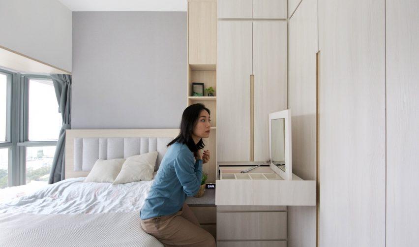Bedroom in Smart Zendo by Sim-Plex Design Studio in Hong Kong