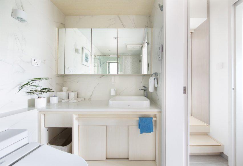 Bathroom of Smart Zendo by Sim-Plex Design Studio in Hong Kong