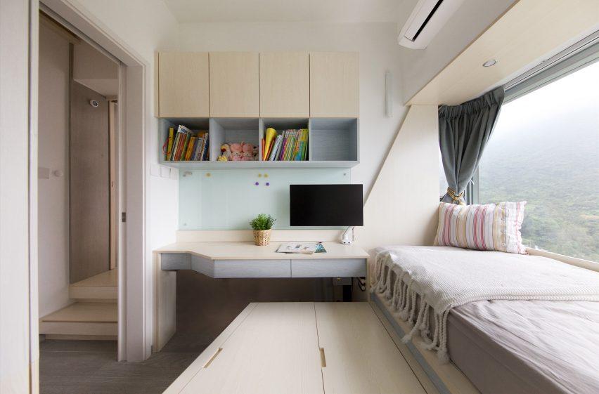 Bedroom Smart Zendo by Sim-Plex Design Studio in Hong Kong