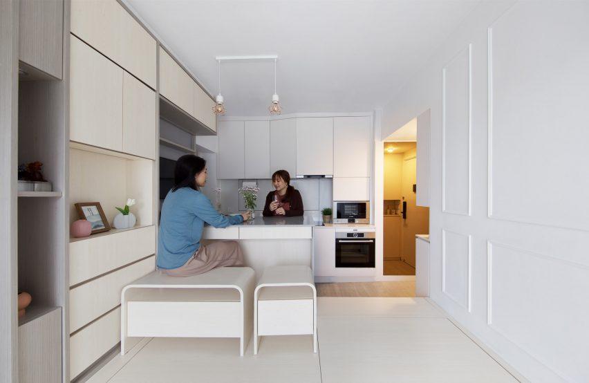 Kitchen Smart Zendo by Sim-Plex Design Studio in Hong Kong