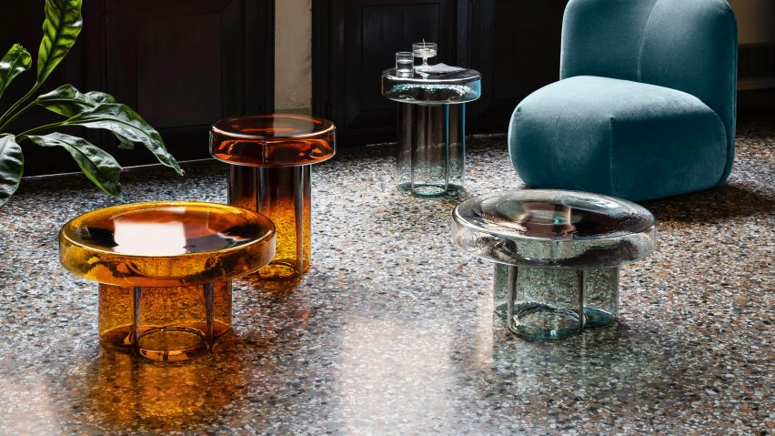 Soda glass coffee table by Yiannis Ghikas for Miniforms