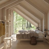 Visual of a modular Space of Mind cabin by Studio Puisto