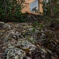 Outside the modular Space of Mind cabin prototype by Studio Puisto