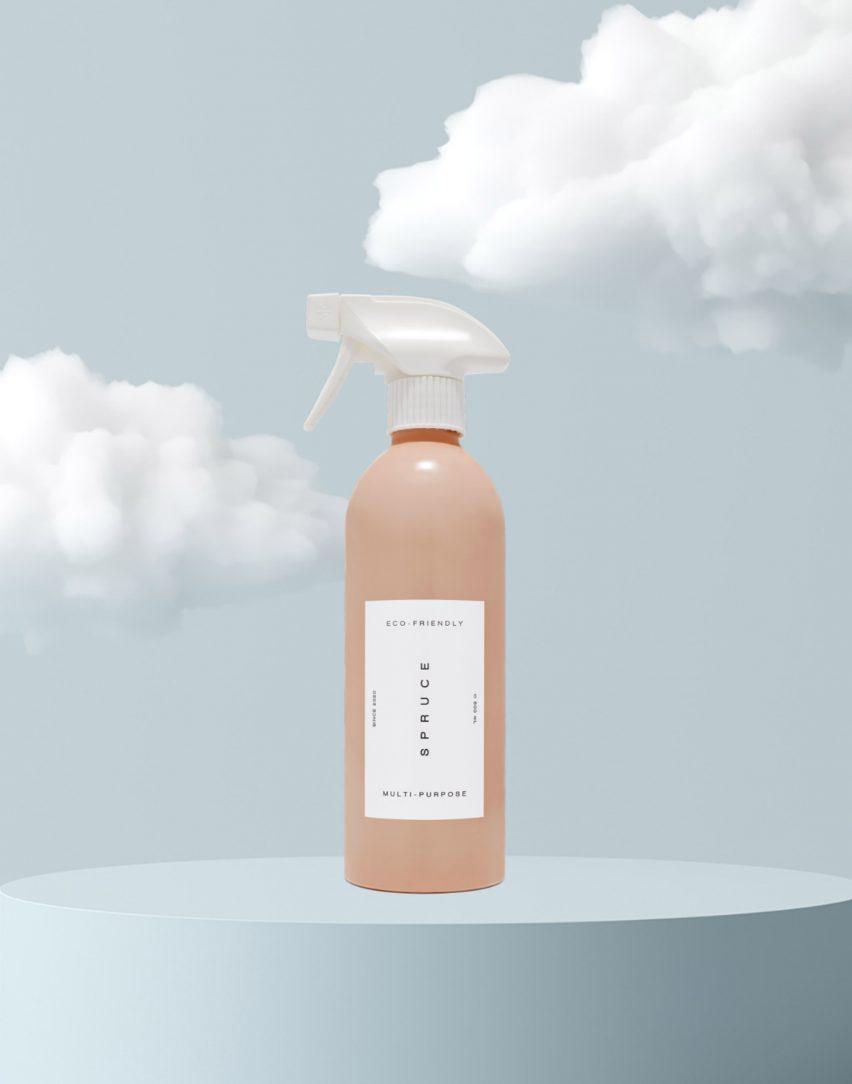 Spruce aluminium refillable bottle