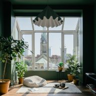 Green-painted sunroom with cathedral views features in renovated Toronto apartment