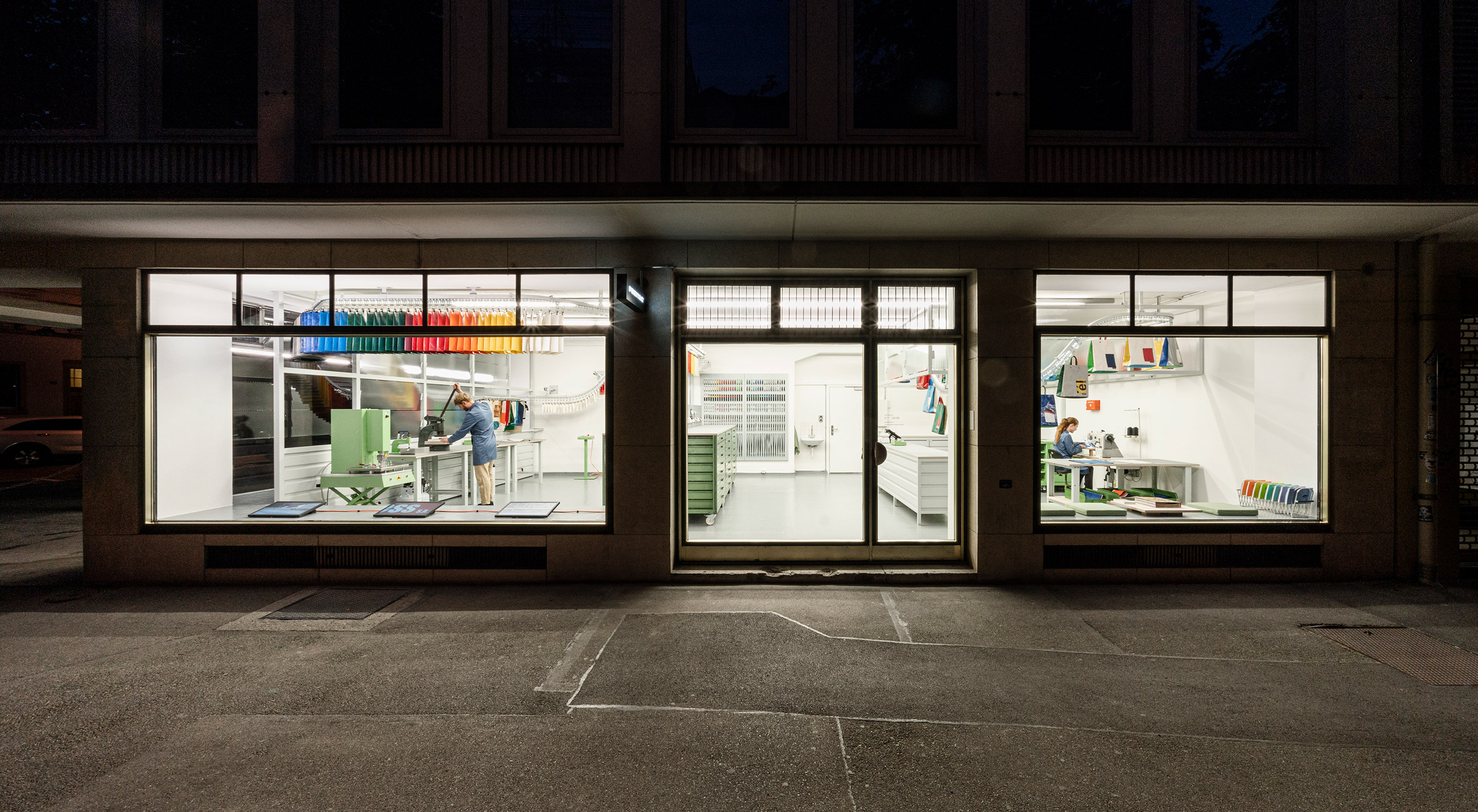 Exterior of Sweat-Yourself-Shop by Freitag