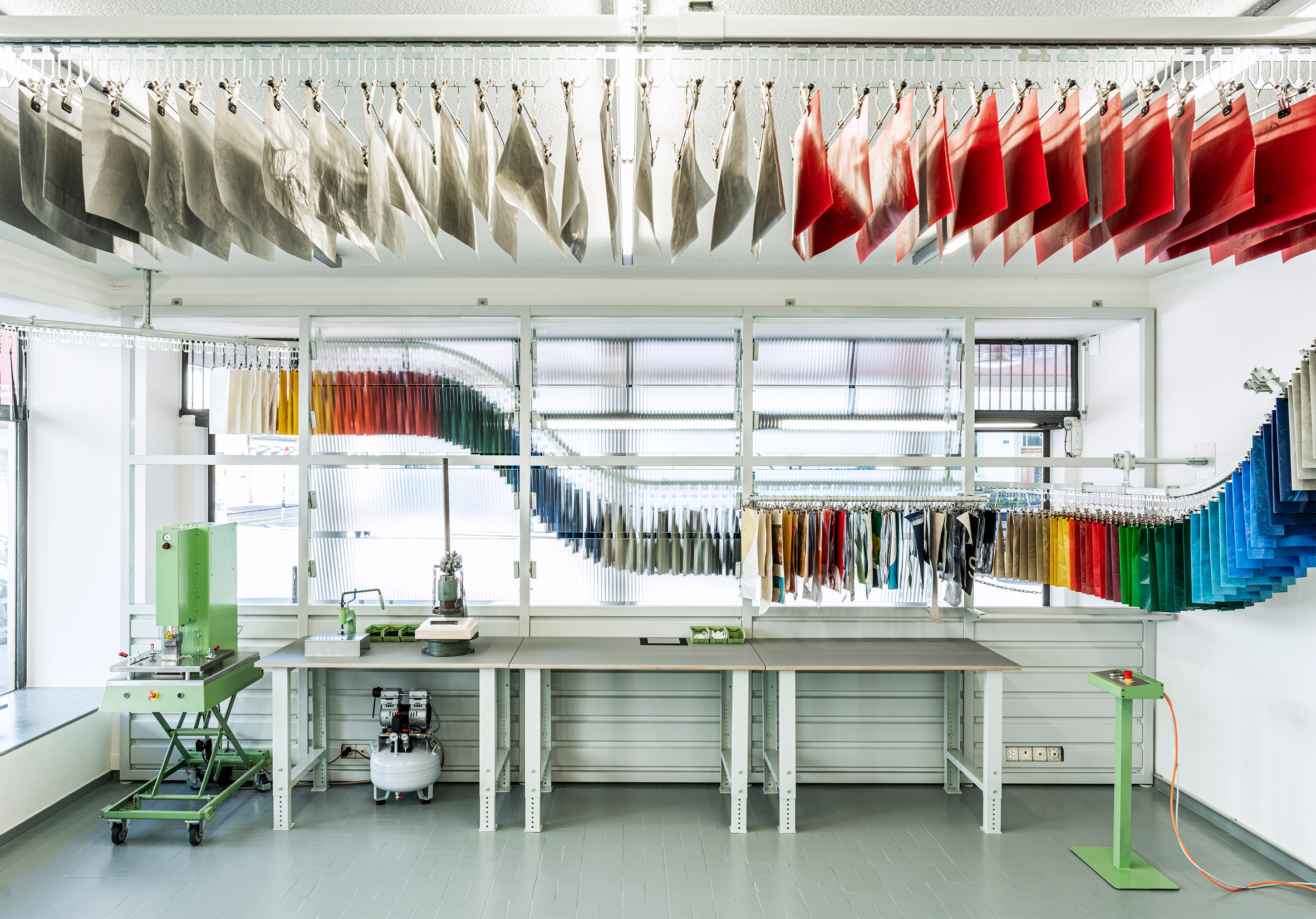 Interior of Sweat-Yourself-Shop by Freitag in Zurich