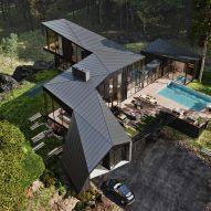 Black-cedar exterior of Sylvan Rock house by S3 Architecture and Aston Martin