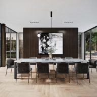 Dining area of Sylvan Rock house by S3 Architecture and Aston Martin