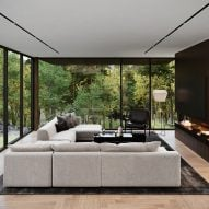 Sitting area of Sylvan Rock house by S3 Architecture and Aston Martin
