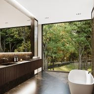 Bathroom of Sylvan Rock house by S3 Architecture and Aston Martin