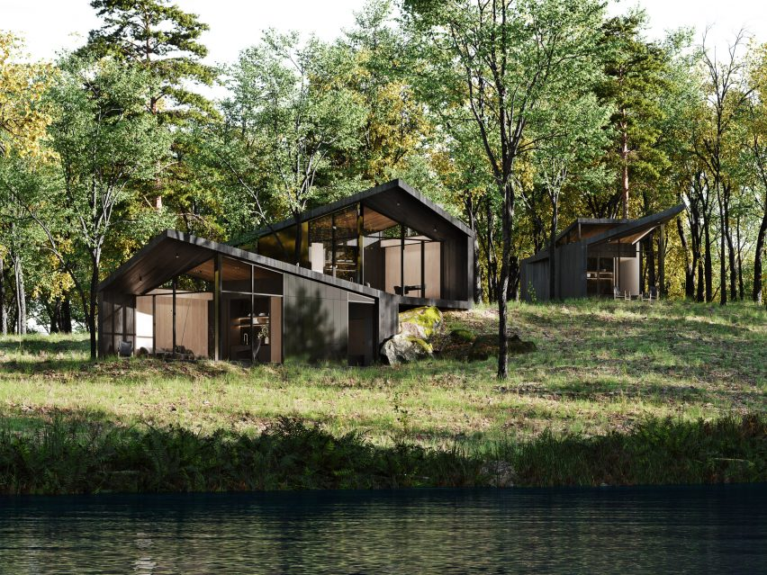 Quartos de hóspedes da casa Sylvan Rock por S3 Architecture e Aston Martin